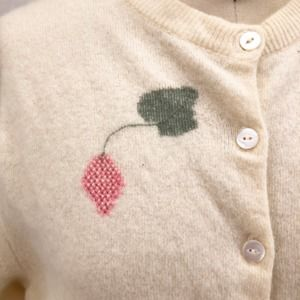 Vintage Sweaters - Vintage GARLAND Strawberry Cardigan Sweater